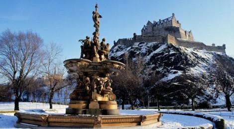 Imponente castillo de Edimburgo