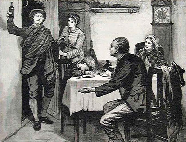 """A esta superstición (o ya tradición) en Hogmanay se le conoce como """"First Footing"""""""
