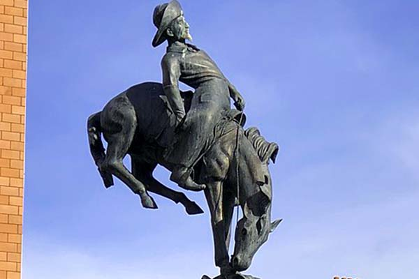 Estatua de Buffalo Bill en Glasgow, Escocia