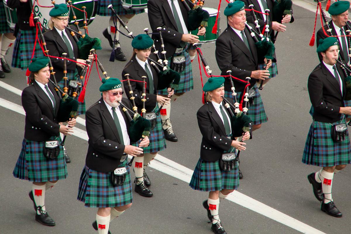 Banda de gaiteros en Escocia