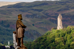 Robert Bruce y monumento a Wallace