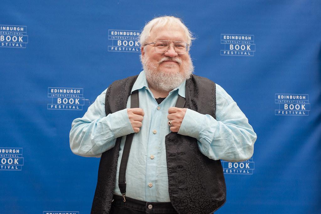 George R. R. Martin en el festival internacional del libro de Edimburgo