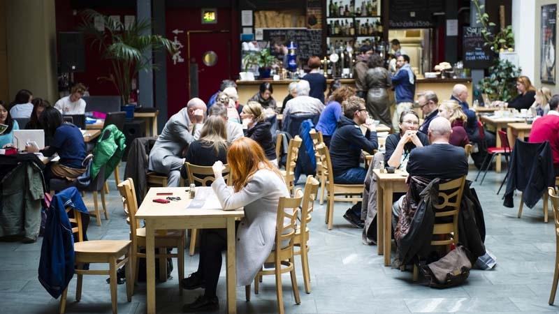 Cafetería en Escocia